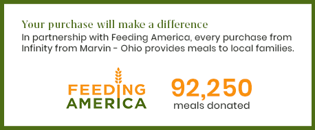 Each purchase from Marvin - Ohio provides 250 meals to local families