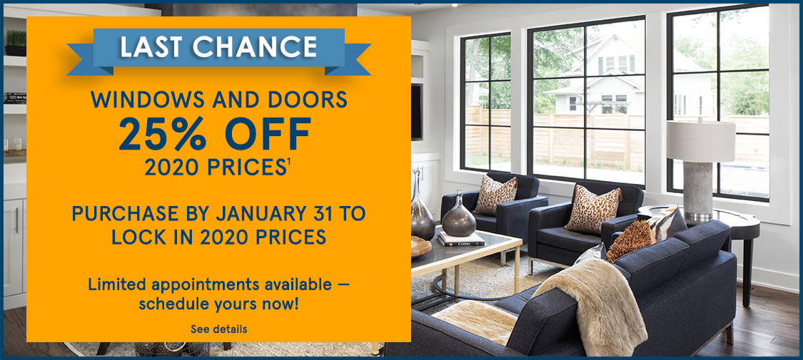 Infinity promotions - Save 25% off replacement windows