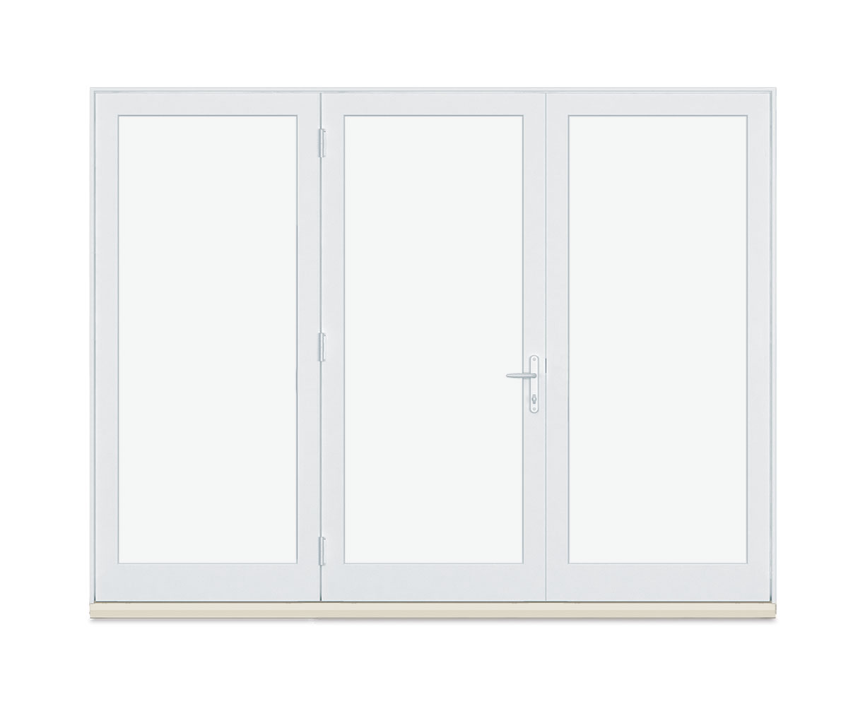Three panel Inswing French door
