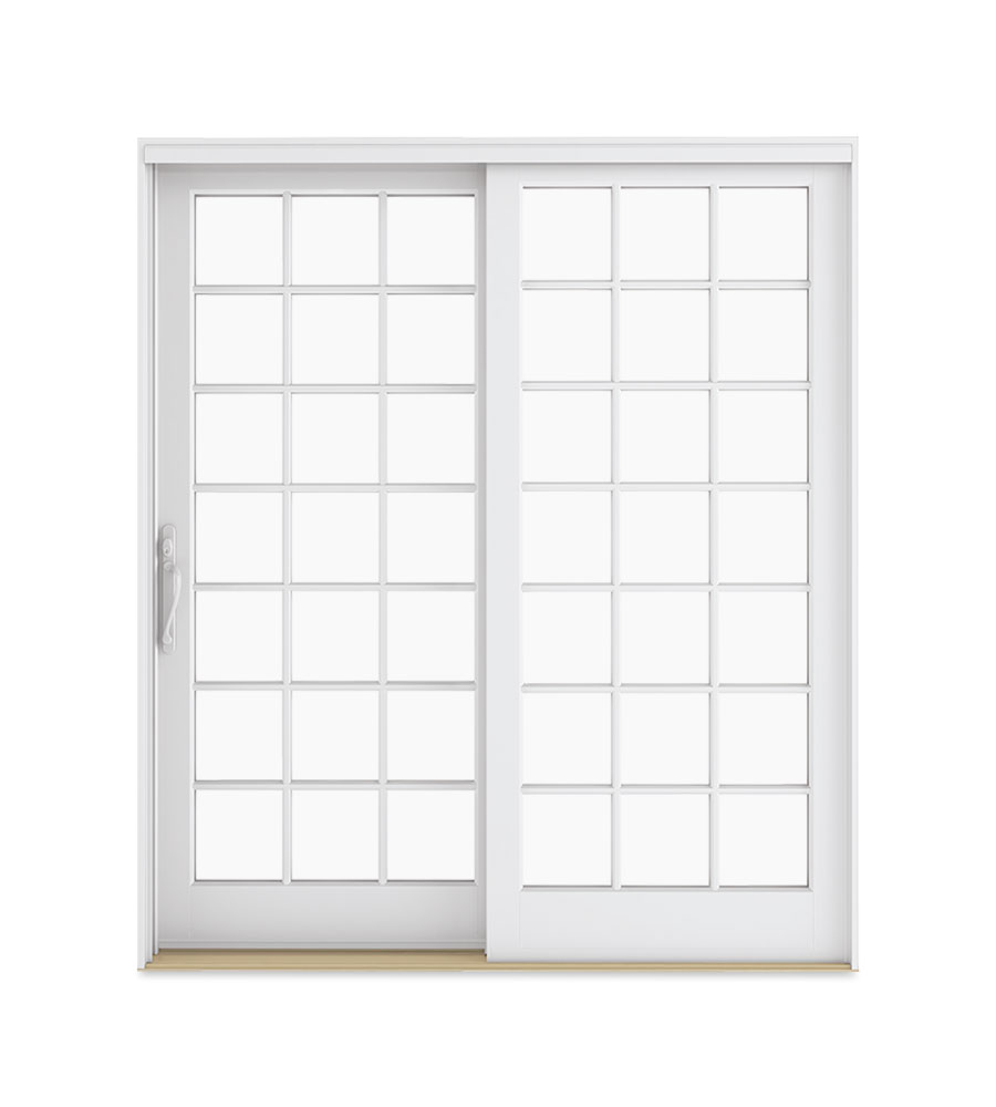 Two-Panel Sliding French Door with Standard divided lites pattern