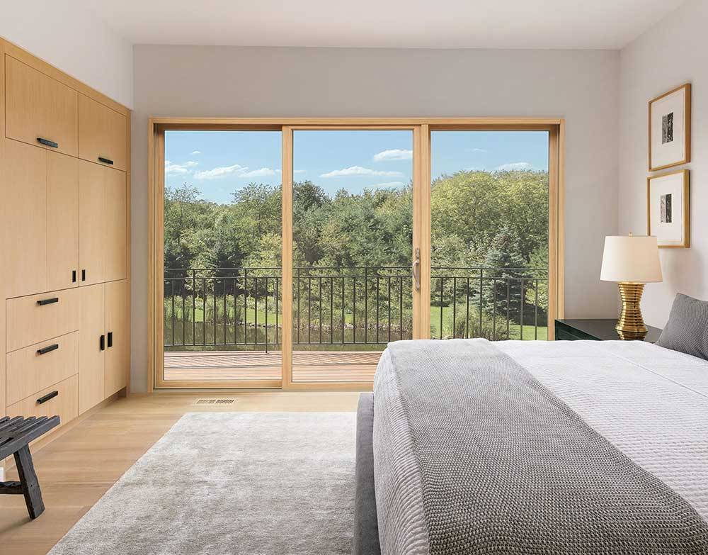 bedroom sliding patio door