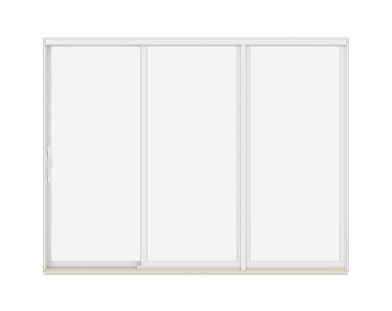 Three-Panel Sliding Patio door with operator side unit