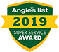 2019 Angie's List Super Service Award logo
