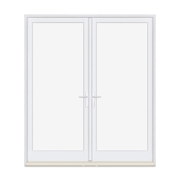 white inswing french door