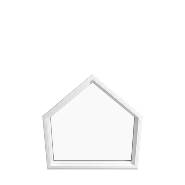 white polygon special shapes window
