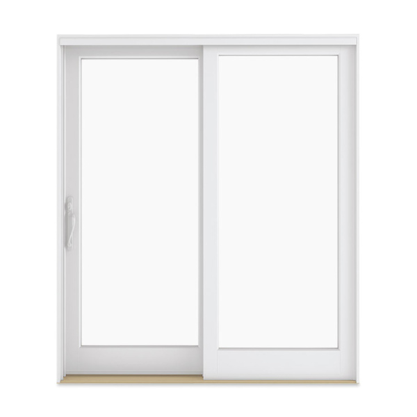 white sliding french door