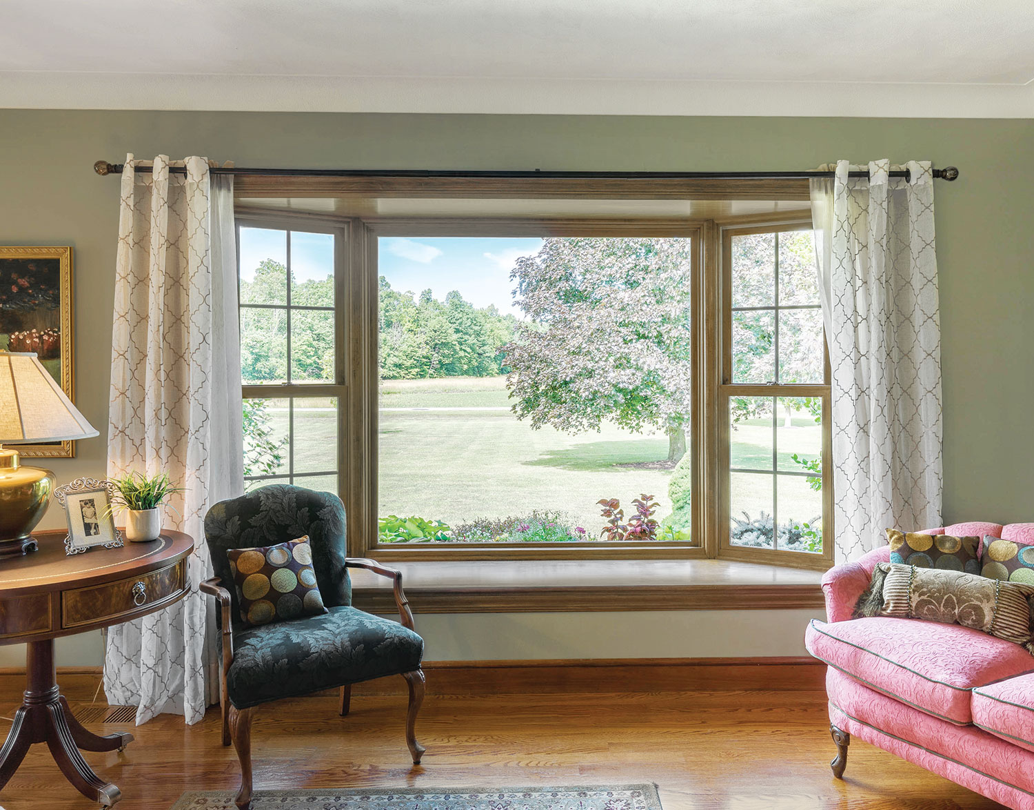 Bay window replacement infinity from marvin - Bay window ideas living room ...