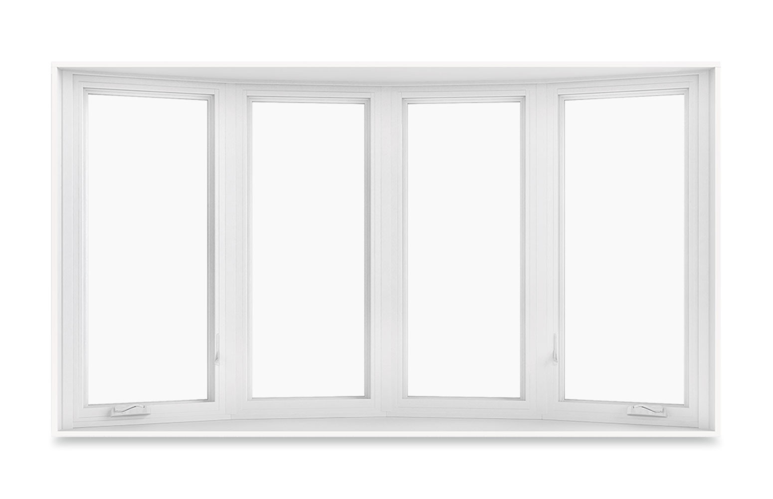 Bow window with 4-wide casements