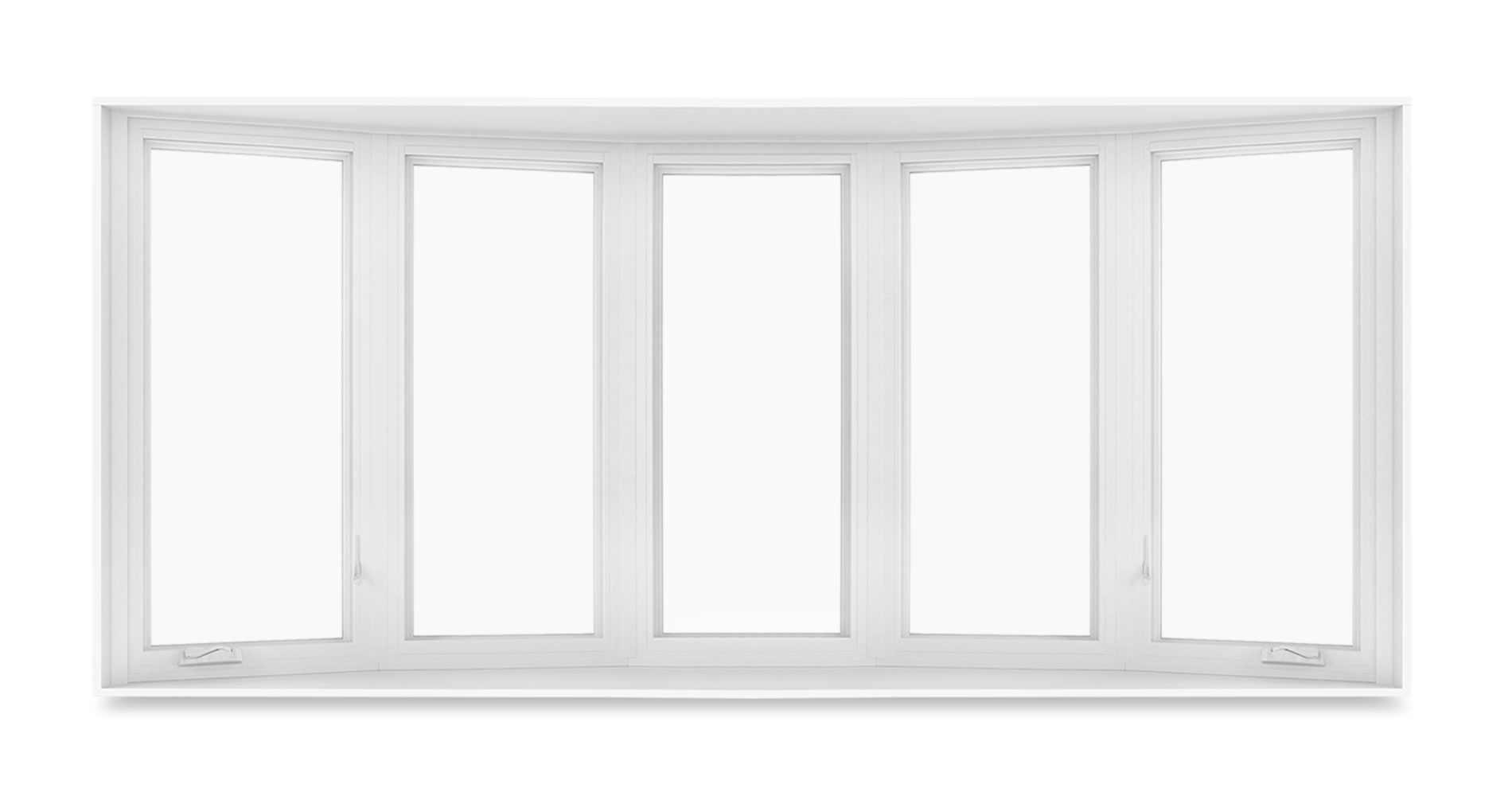 Bow window with 5-wide casements