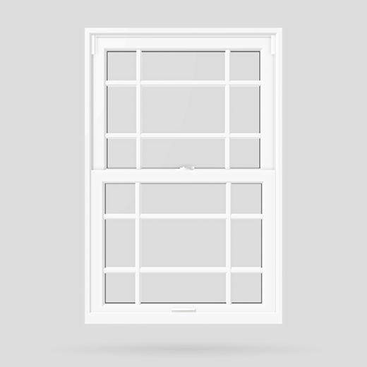 prairie pattern double hung window